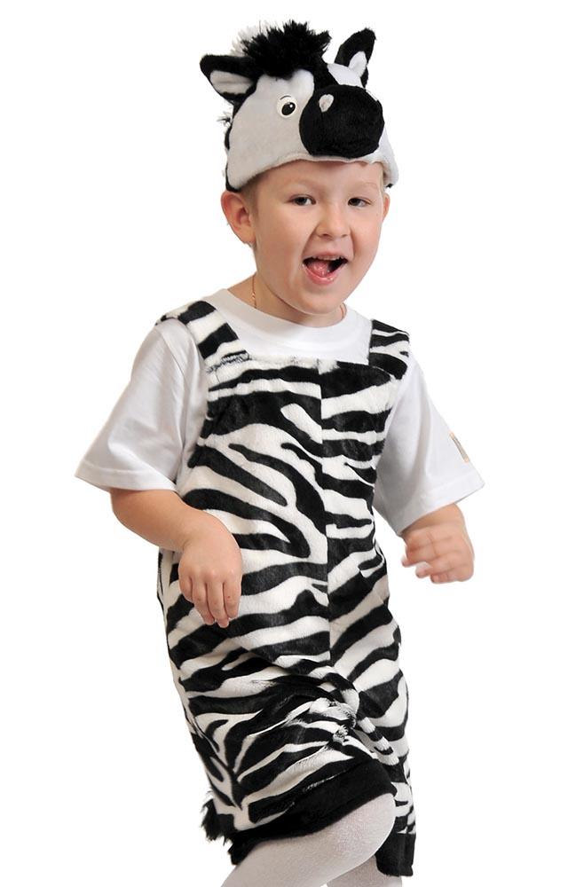 Карнавальный костюм Карнавалофф Зебра, цв. черный; белый
