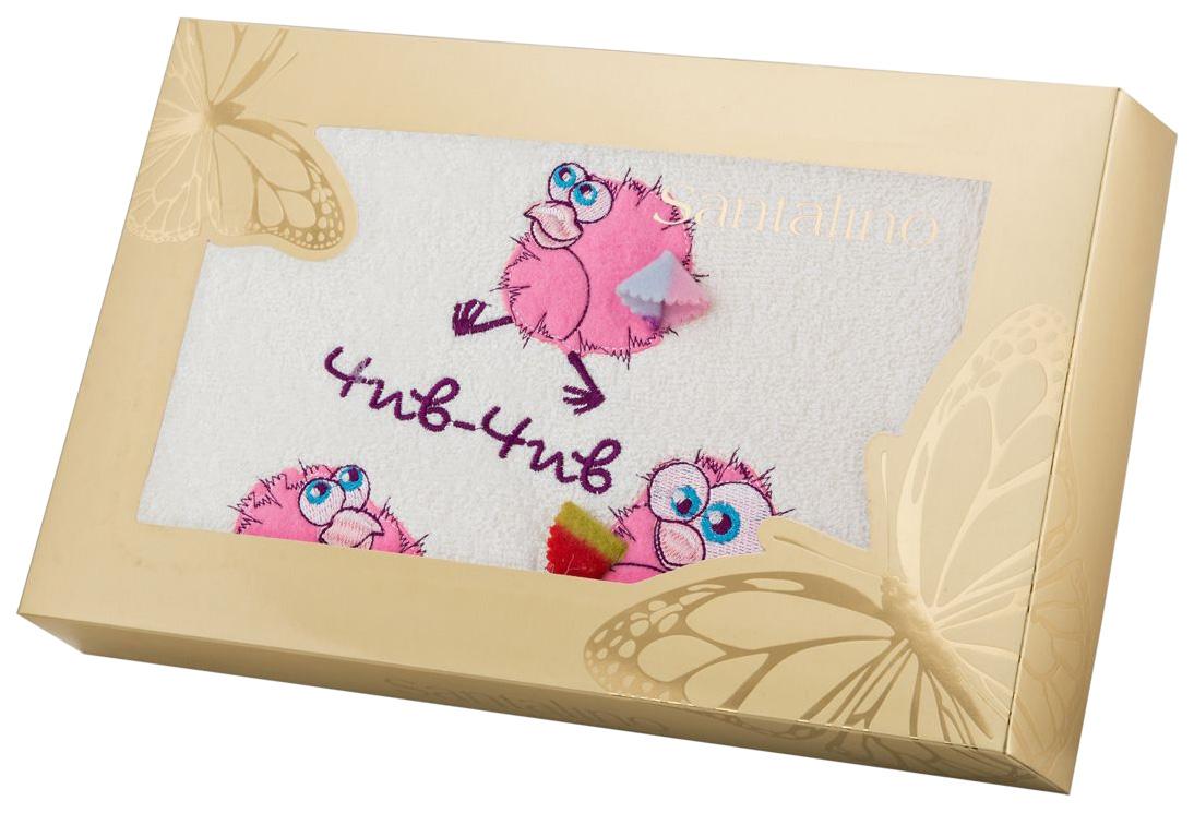 Банное полотенце, полотенце универсальное Santalino белый