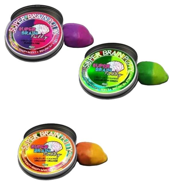 Игрушка-антистресс JOKER Group Жвачка для рук Super Brain Putty Меняющая цвет 3 цвета 75 г