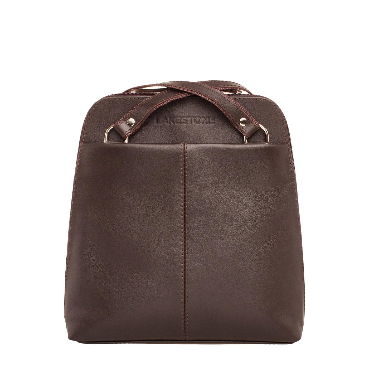 Рюкзак женский кожаный Lakestone 918103/BR фото