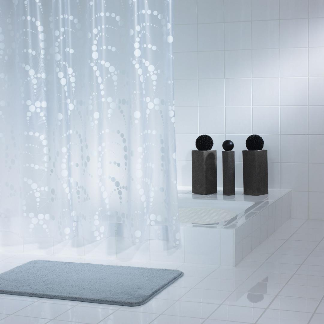 Штора для ванных комнат Dots белый 180*200