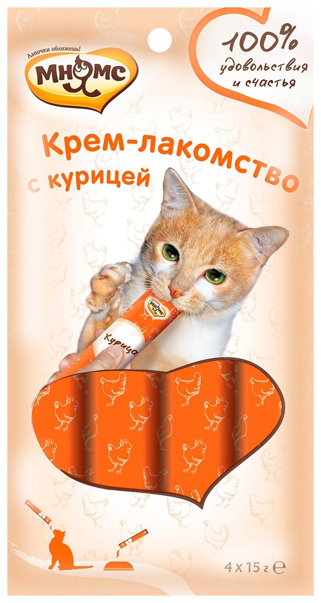 Лакомство для кошек Мнямс Крем-лакомство с курицей 4 шт х 15 г фото