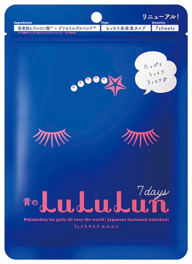 Маска для лица Lululun Face Blue 130 г x 7 шт