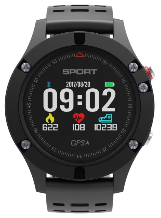Смарт часы NO.1 F5 Black/Grey