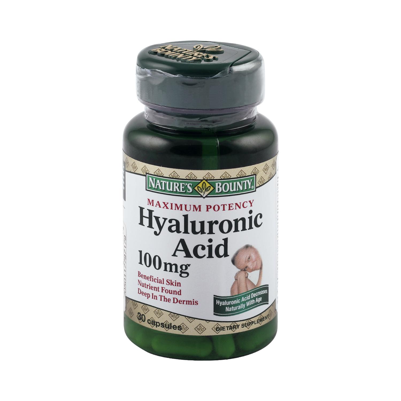 Купить Гиалуроновая кислота 100 мг, Гиалуроновая кислота Nature's Bounty 100 мг 30 капсул