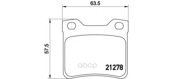 Тормозные колодки дисковые brembo P61058