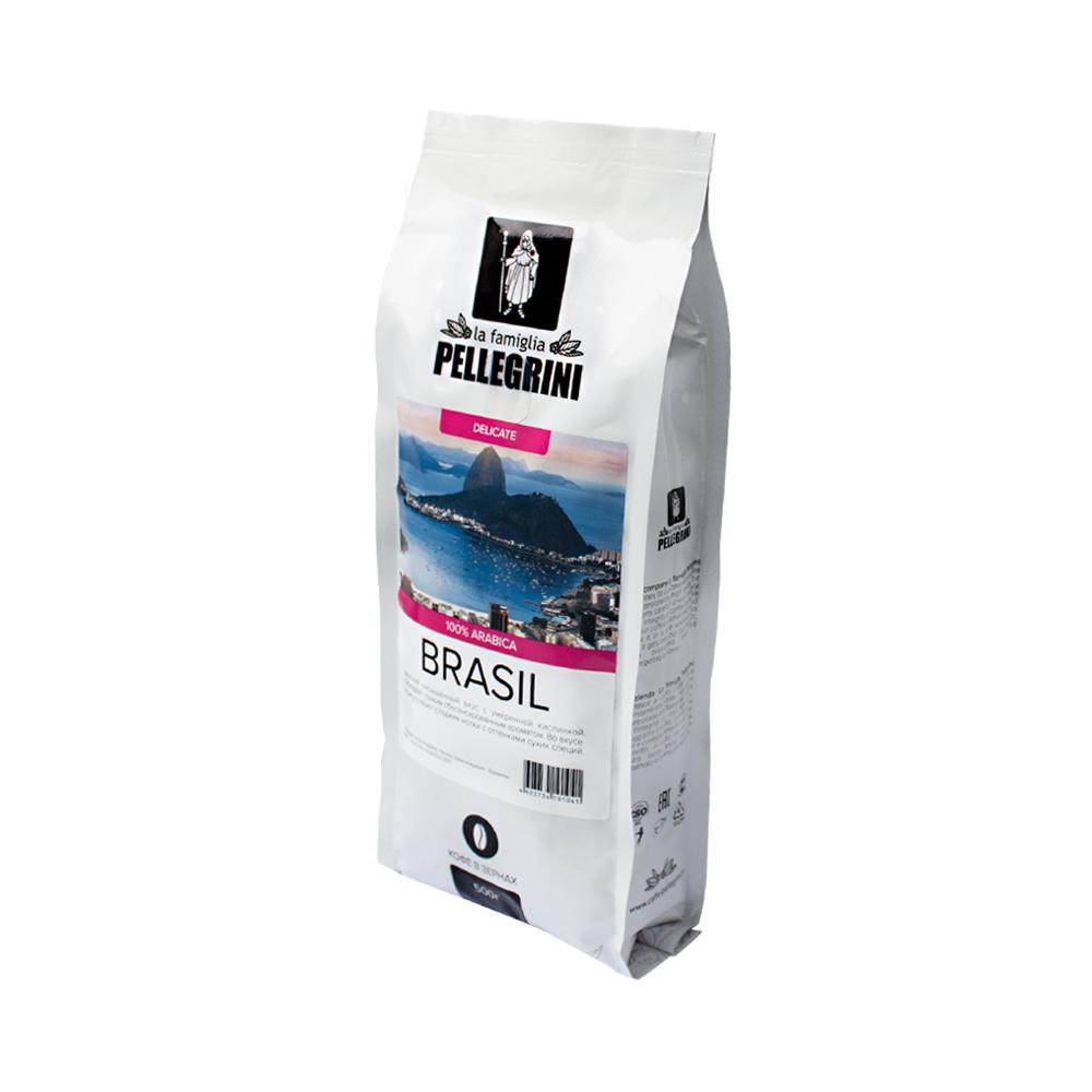 Кофе зерновой La famiglia Pellegrini  Brasil 500 г