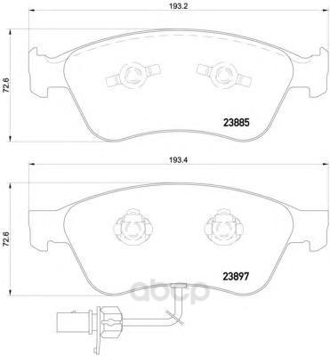 Колодки тормозные дисковые передние audi a6 04-, a6 avant 05-, a8 02- Textar 2388501 фото