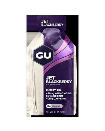 Энергетический гель GU Energy Gel с кофеином, 32 г, ежевика джет