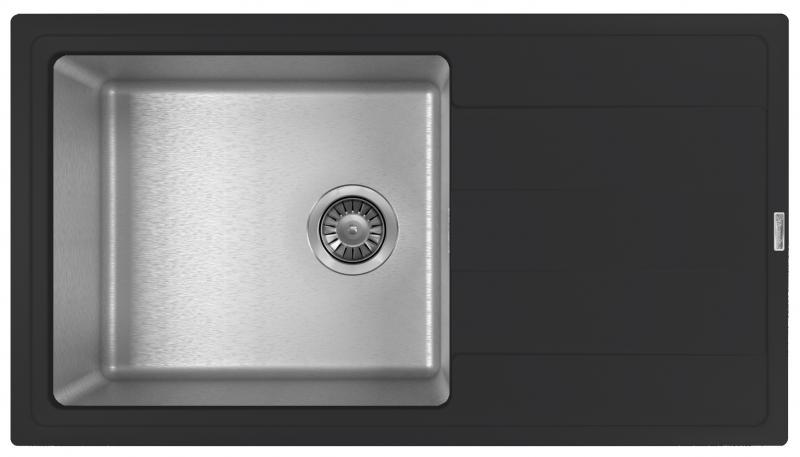 Мойка для кухни комбинированная Florentina Комби 860, антрацит фото