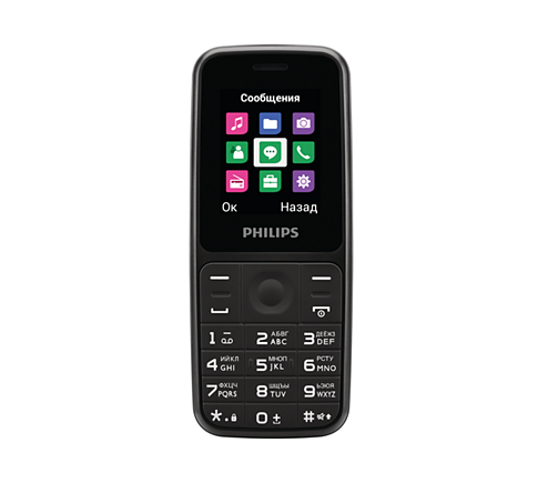 Кнопочный телефон Philips Xenium E125 Bl