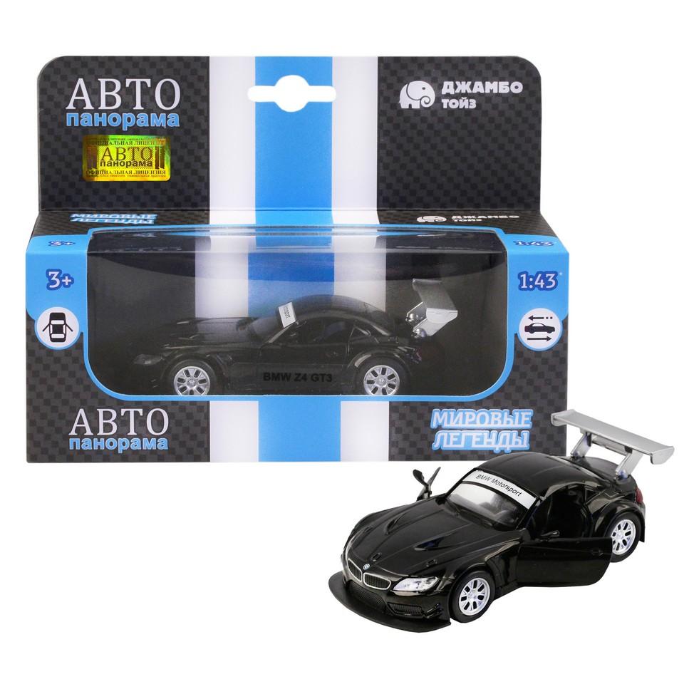 Купить Машинка металлическая Автопанорама 1:38 BMW Z4 GT3 черный JB1200132, Коллекционные модели