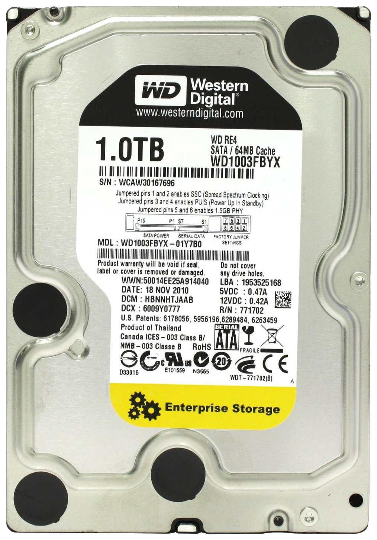 Внутренний жесткий диск Western Digital 1TB (WD1003FBYX)