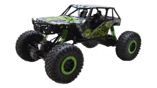 Купить Радиоуправляемая машинка HuangBo Toys Rock Crawler 4WD Зеленый/Черный, Радиоуправляемые машинки