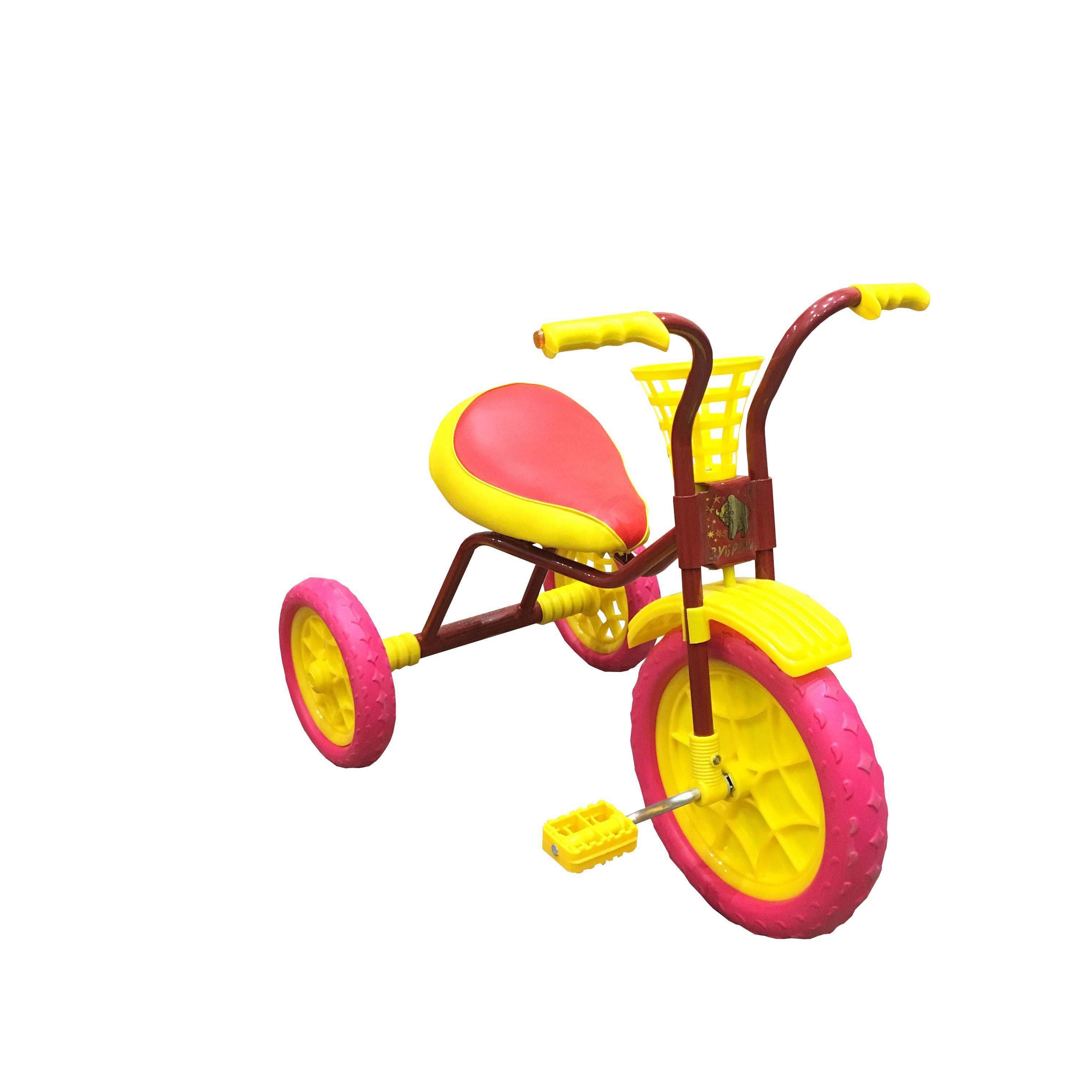 Купить Трехколесный велосипед Woodlines Зубренок Бордовый, Детские трехколесные велосипеды