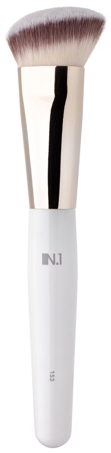 Кисть для макияжа N.1 Скошенная для контуринга лица из ворса таклон №153