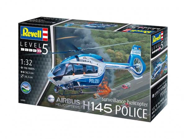 Купить Сборная модель Revell полицейский вертолет h145, Модели для сборки