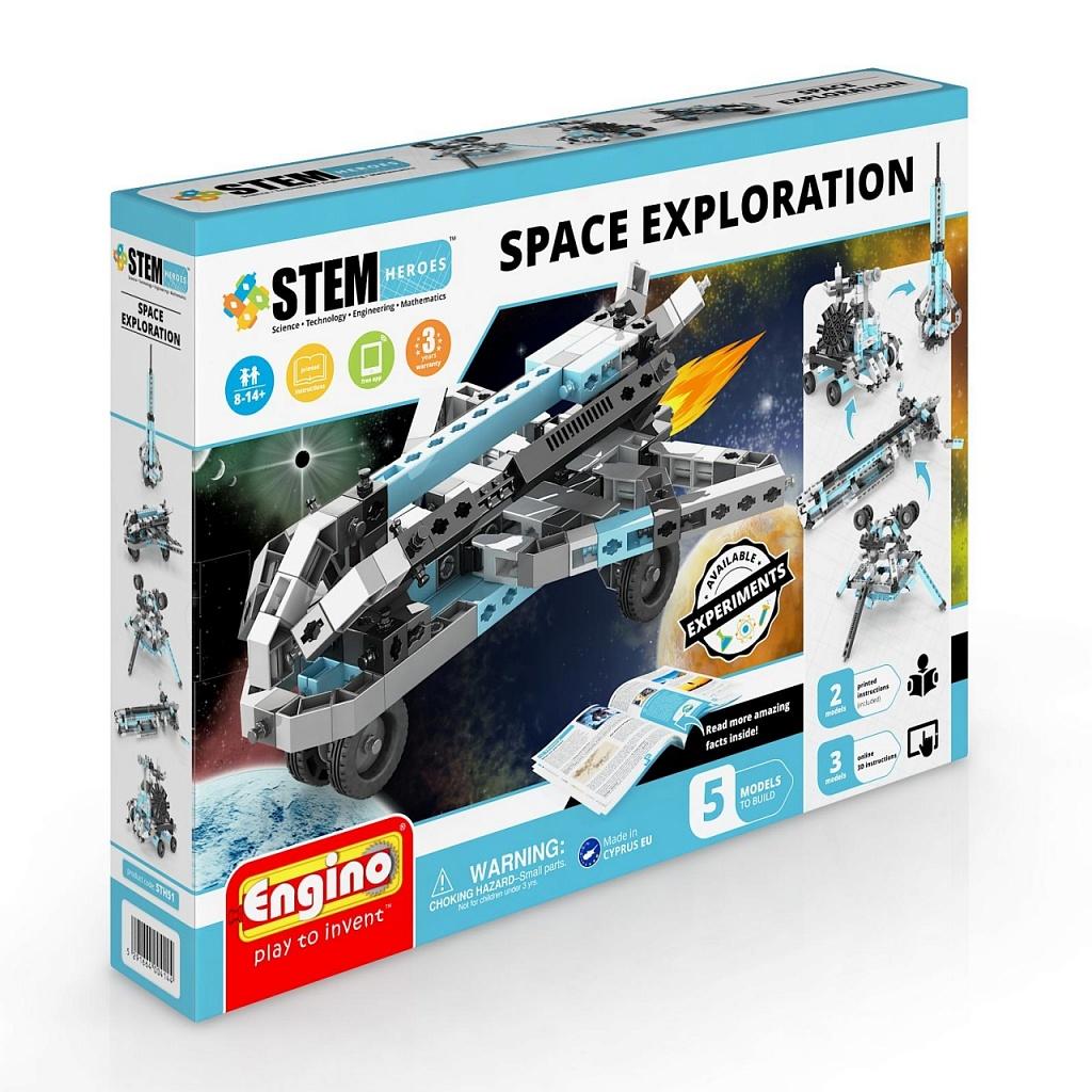 Конструктор ENGINO STH51 STEM Heroes. Набор из 5 моделей. Освоение космоса фото
