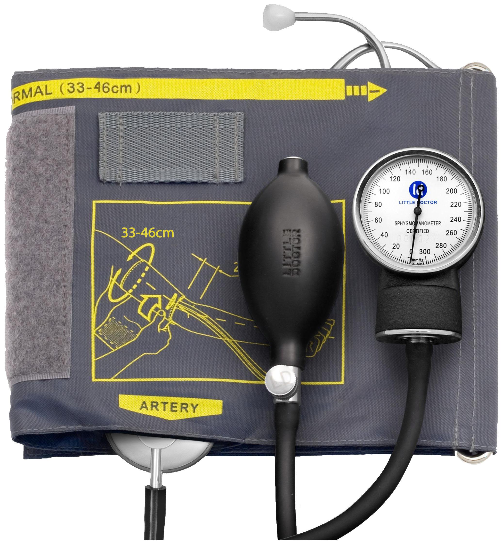 Тонометр Little Doctor LD-60 механический на плечо со стетоскопом манжета 33-46 см фото