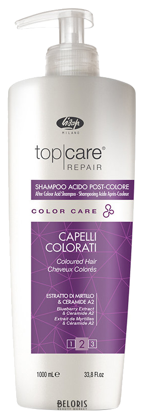 Стабилизатор цвета / Top Care Repair Color Care After Color Acid Shampoo 1000 мл