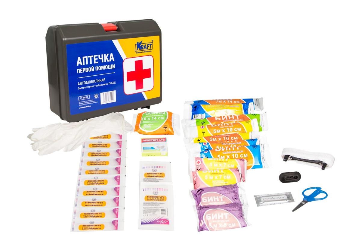 Аптечка первой помощи автомобильная (кейс)