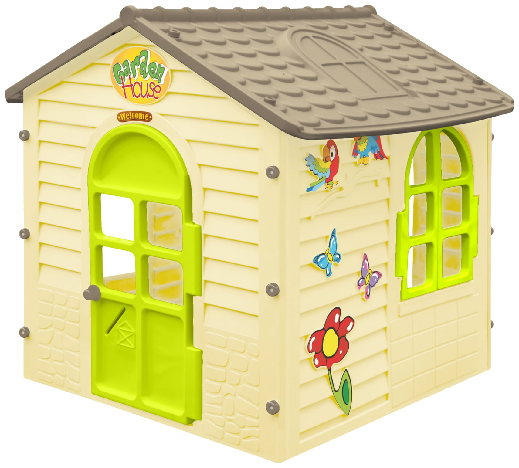 Купить Игровой домик MochToys Garden House 11558 Бежевый,