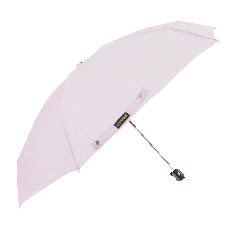 Зонт складной Kawaii Factory Клубника на розовом
