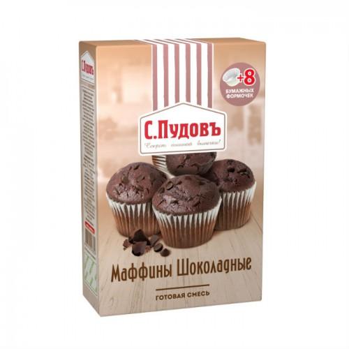 Мучная смесь С.Пудовъ маффины шоколадные 230 г фото