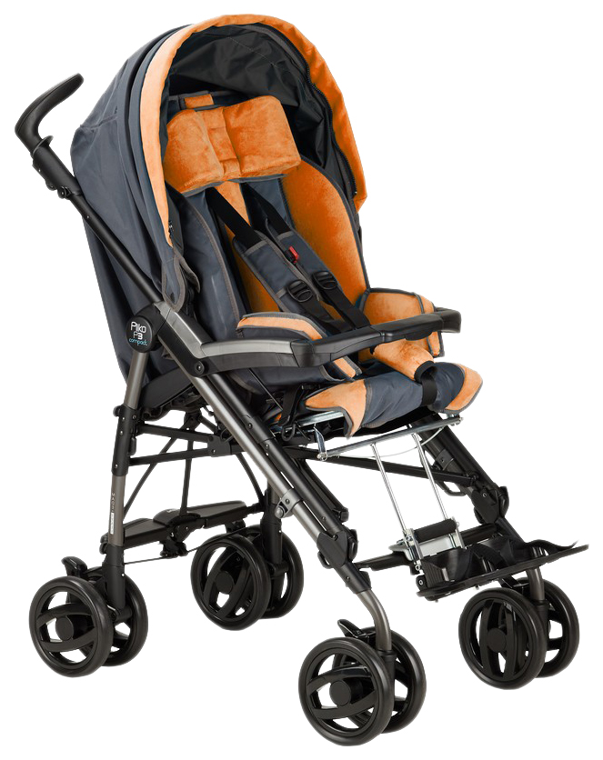 Купить Коляска-трость Fumagalli Pliko для детей с ДЦП серо-оранжевый