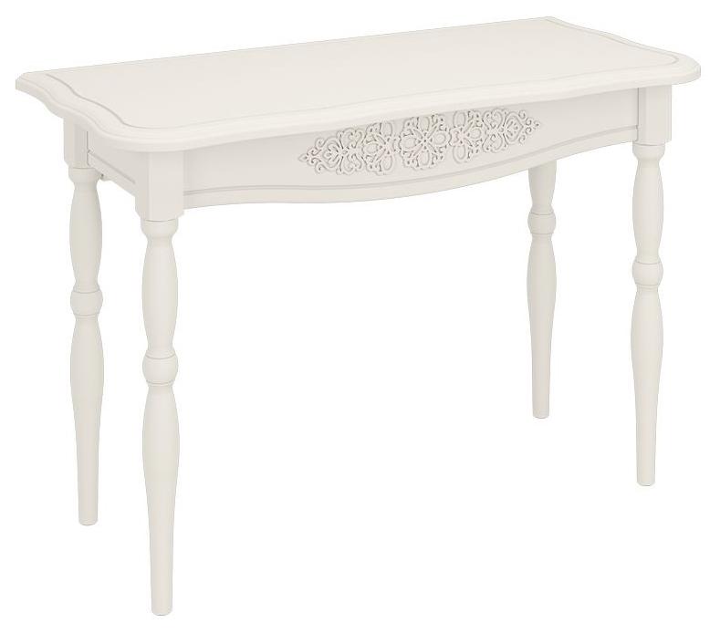 Туалетный столик Компасс мебель 75,5х110х50 см, белый