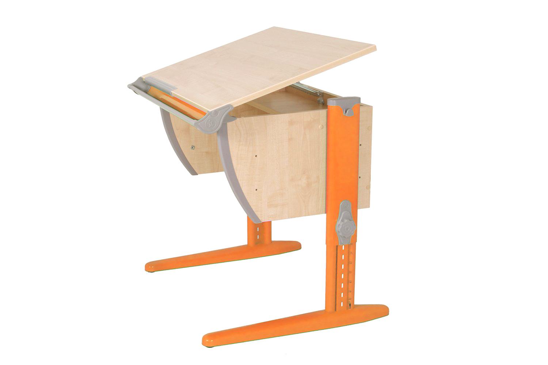 Парта Дэми Классик 75 см клен/оранжевая