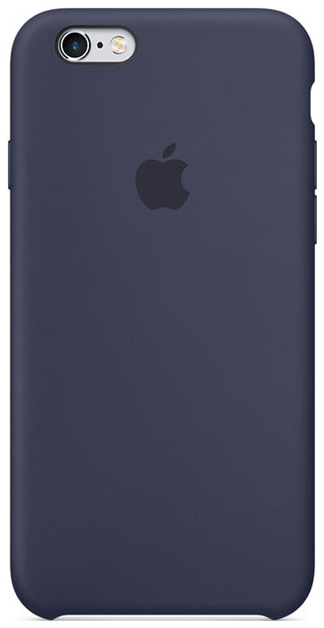 APPLE SILICONE CASE MIDNIGHT BLUE  фото