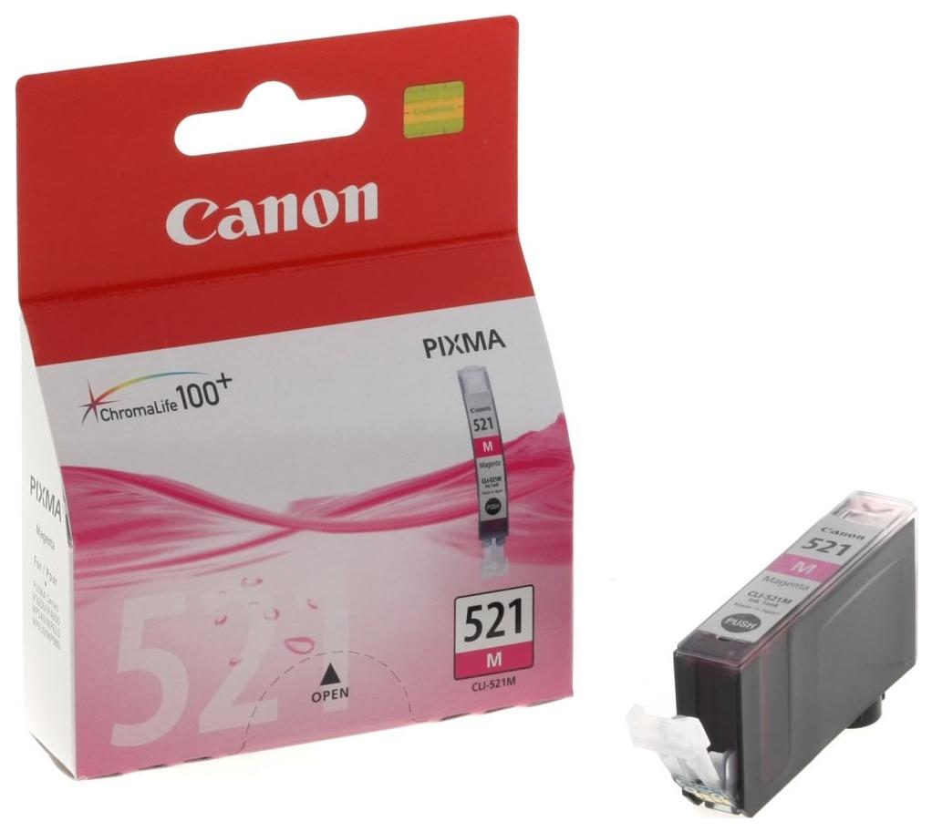 Картридж для струйного принтера Canon CLI-521M пурпурный, оригинал фото