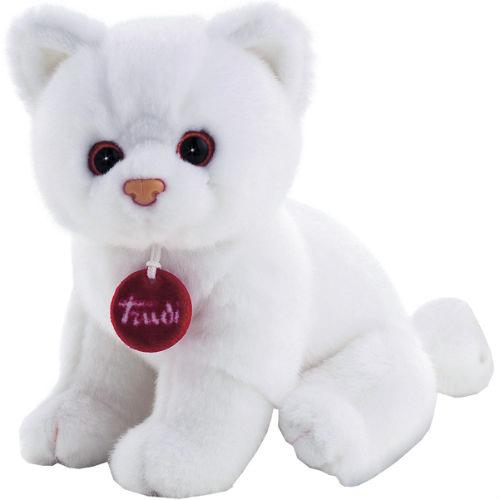 Купить Мягкая игрушка Trudi Котёнок Брэд (белый), 24 см, Мягкие игрушки животные