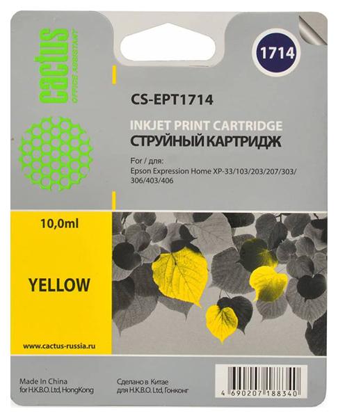 Картридж для струйного принтера Cactus CS-EPT1714 желтый