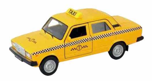 Машинка инерционная Welly 43644TI Модель машины Welly 1:34-39 LADA 2107 Такси фото