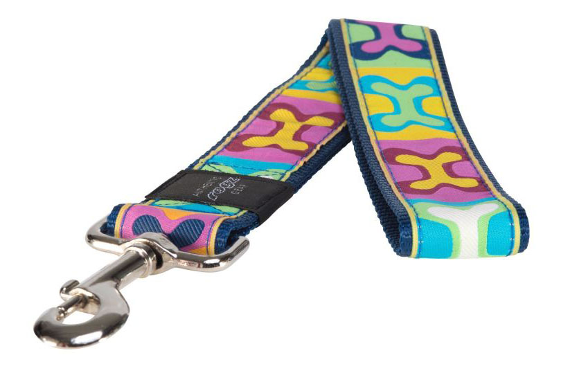 Поводок для собак Rogz Fancy Dress XXL-40мм 0,5 м (Многоцветный Поп-Арт HL04BW) фото