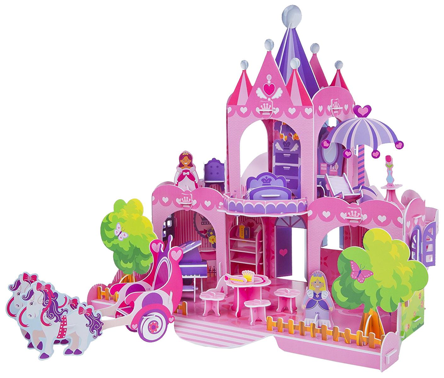 Купить Пазл Melissa&Doug 3D Розовый замок 100 элементов 9462, Melissa & Doug, Пазлы