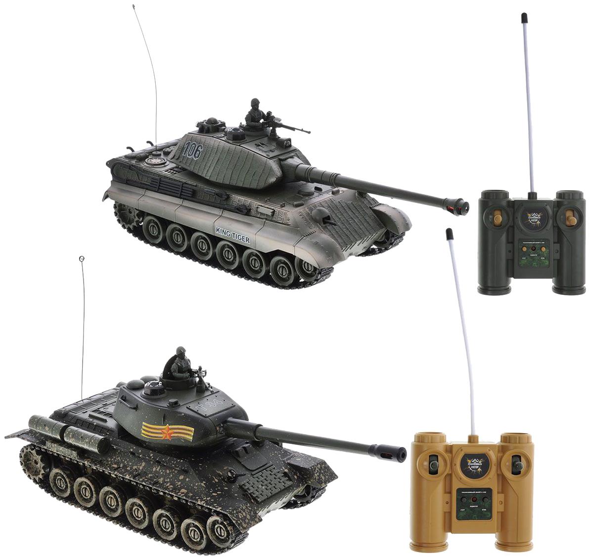 Купить Военный транспорт Пламенный Мотор Танковый бой Т-34 и Germany King Tiger 870164, Пламенный мотор