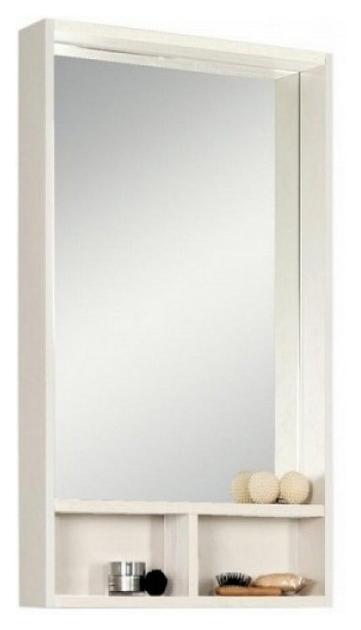Зеркальный шкаф Йорк 50 белый/выбеленное дерево