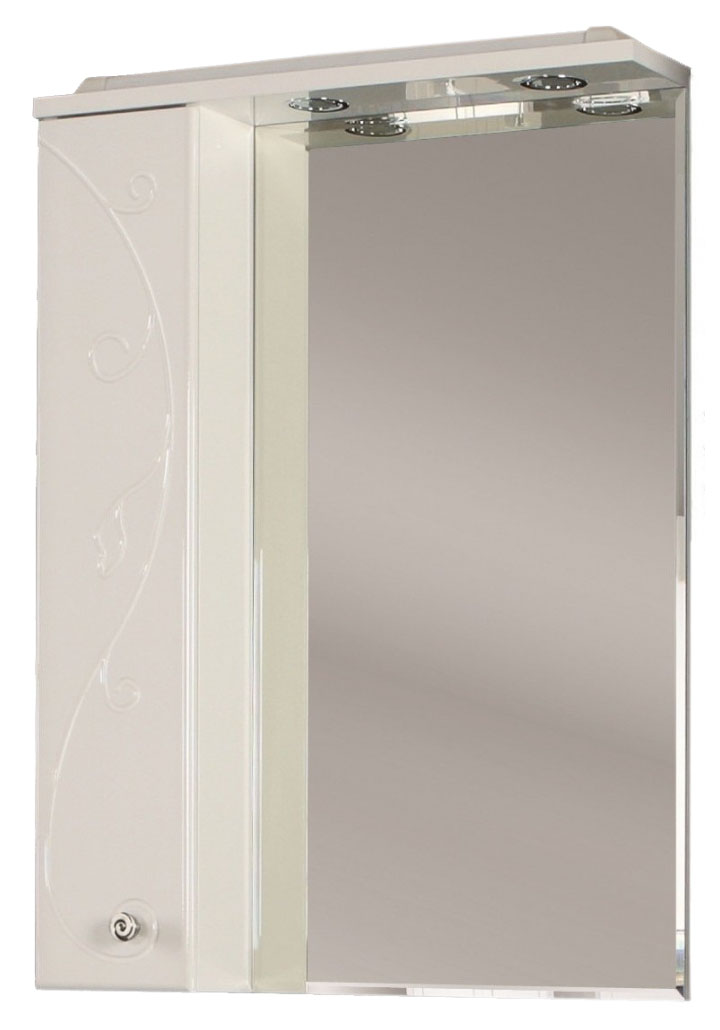 Зеркальный шкаф Лиана 65 левый