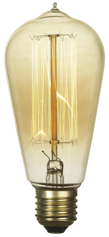 Лампа накаливания E27 60W 2700K колба прозрачный