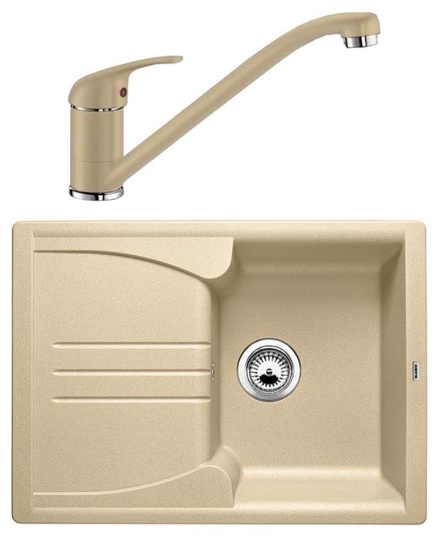 Комплект Blanco Мойка для кухни ENOS 40 S 513796 шампань + смеситель DARAS 517726 шампань