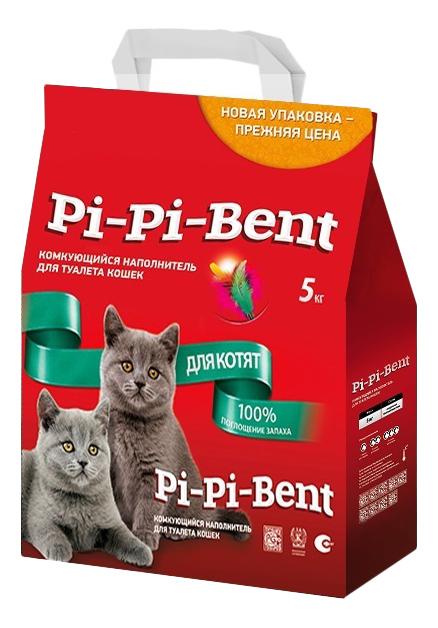 Комкующийся наполнитель для котят Pi Pi Bent
