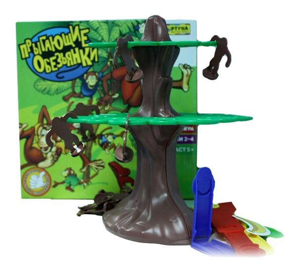Купить Семейная настольная игра Фортуна Прыгающие обезьянки, Семейные настольные игры