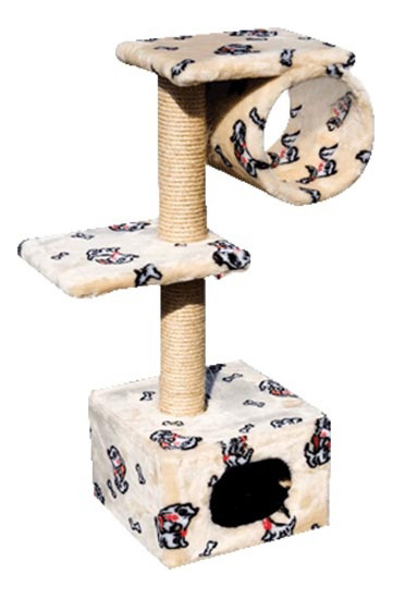 Комплекс для кошек Зооник 2 площадки + труба 22018 фото