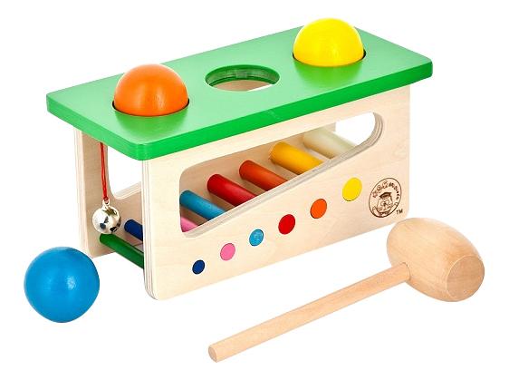 Купить Деревянная игрушка для малышей Наша игрушка Mapacha Забей шарик, Развивающие игрушки
