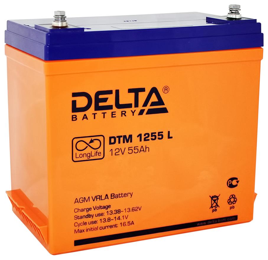 Аккумулятор Delta Для систем бесперебойного питания 55 Ач Обратная полярность фото