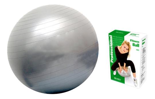 Мяч гимнастический Bradex Фитбол-75, серебристый, 75 см фото
