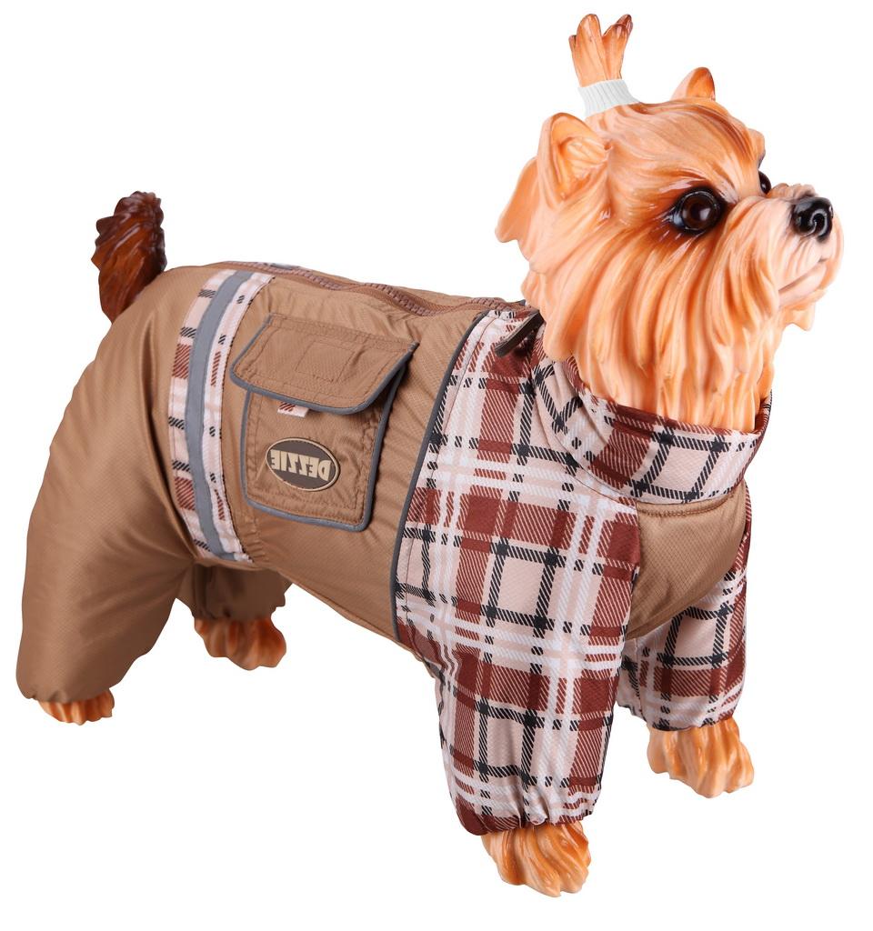 Комбинезон для собак DEZZIE размер M мужской, коричневый, длина спины 30 см